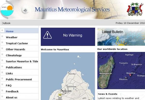 meteo mauritius  vacoas